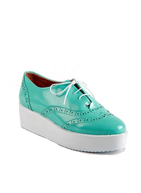 İnce Topuk Ayakkabı Yeşil